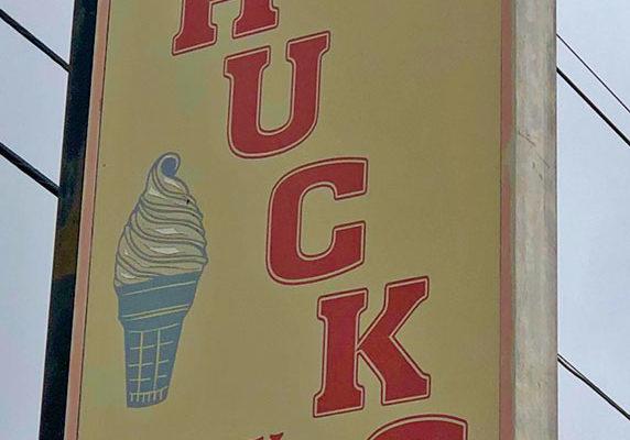 Chuck's Dairy Bar Sign